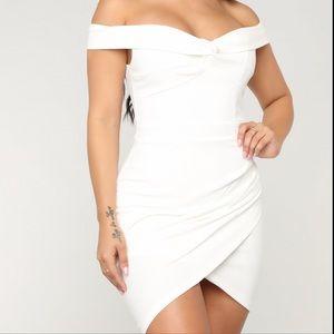 FASHION NOVA White Off-Shoulder Dress - NWT -XS